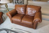 Vintage Italian Leather Sofa or Loveseat