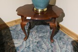 Wooden Queen Anne Style Lamp Table