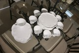 Group lot of vintage milk glass