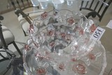 Larger sized bowl and platter with rose pattern