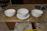 Group lot of Mikasa deep pasta dishes