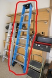 8' Werner Blue Fiberglass step ladder