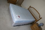 Full size mattress, boxspring, headboard, frame