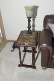 Small lamp table plus lamp