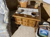 Vintage Maple Lamp Table