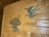 2 Mid Century Decorative Brass Wall Art Pieces