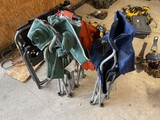 Group lot of camp chairs