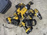 Huge Lot DeWalt Rechargeable Tools