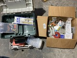 Large lot assorted fishing items, accessories