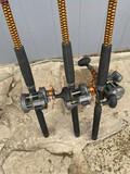 3 Fishing Trolling Rods & Reels - Okuma CW1530