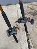 2 Fishing Trolling Rods & Reels - Okuma CW1530