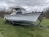 1981 24' Reinell Mercruiser Fishing Charter boat on Trailer