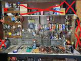 Items on and above bench top - tools, hardware etc