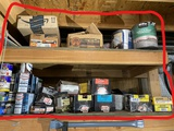 Large lot assorted nails, fasteners, paints and more