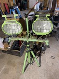 Pair of shop lights on stand by Commercial Electric