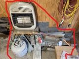 Propane Room heater, scrap metal lot