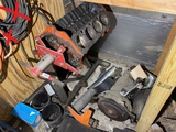 Engine stand with block, transmission etc lot