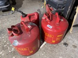 Group lot of 3 gas cans