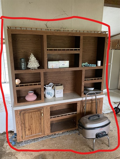 Cooker and contents of shelf lot