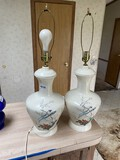 Pair of vintage Chinese or Japanese style lamps