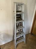Pair of ladders - aluminum and wood