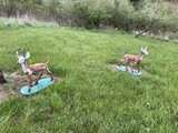 Pair of Vintage Cement Deer Lawn Statues