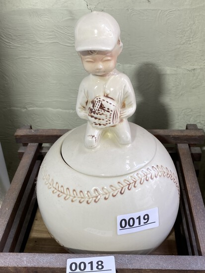 Vintage McCoy baseball player cookie jar