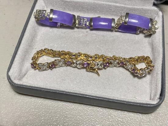 2 nicer sterling silver bracelets