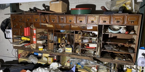Estate with antiques, tools and smalls