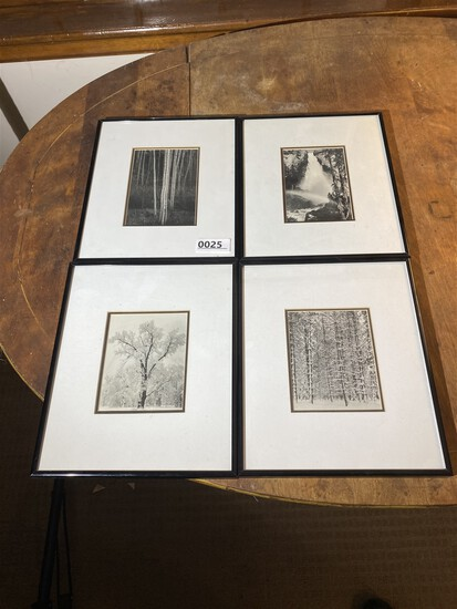 Group lot 4 framed Ansel Adams photographs