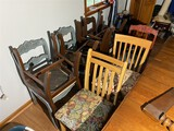 Group lot of 9 dining chairs