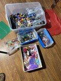 Large lot of vintage legos, lego figures etc PLUS barbie