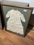 Christening gown in frame