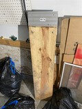 Pair of wooden car or lawn mower loading ramps
