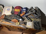 Large lot vintage police items