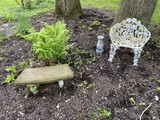 Cast iron garden bench PLUS other items