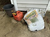 Top Soil, gas can, planter lot
