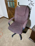 High backed office chair plus wall decor piece