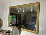 Vintage bevelled glass mirror
