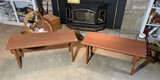 Pair of vintage wooden benches