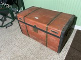 Nice mid 19th century antique wooden trunk