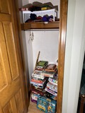 Closet Lot of Assorted Board Games, Football items