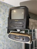 TV with VCR and Stereo unit w/bracket