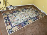 Unusual Vintage Hand Made Large Rug or Carpet