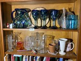 Group lot of assorted glass pieces and more