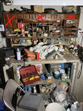 Contents of workbench in basement