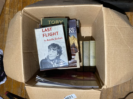 Box of old collectible books
