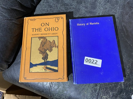 2 Ohio books - On the Ohio by Abdy & History of Marietta