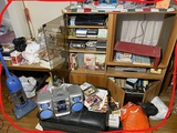 Clean out lot assorted items - electronics, records, furniture