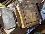 Old religious book + Large Bible w/Color Prints